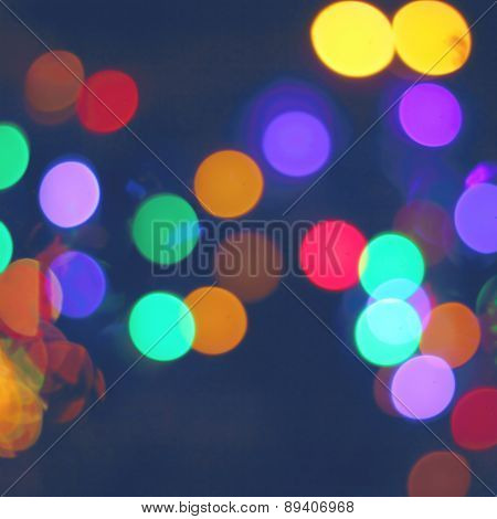 Blured City Lights