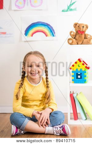 Little Girl At Home