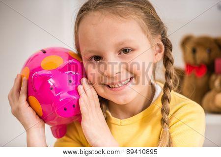Girl With Moneybox
