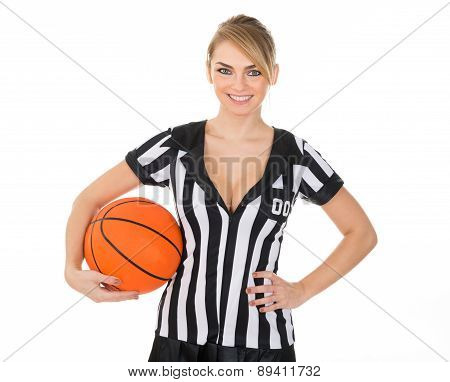 Referee With Orange Basketball