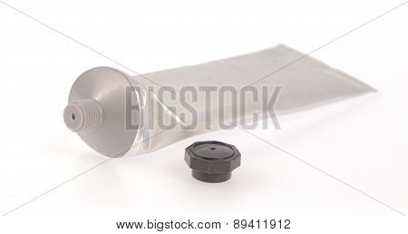 Blank Packaging Tube Isolated On White Background