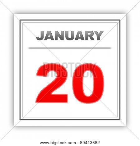 January 20. Day on the calendar. 3d