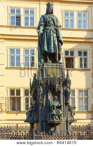Statue of Charles IV in Prague, Czech Republic.