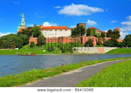 Wawel Royal Castle in Krakow, Poland.