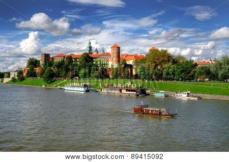 Wawel Royal Castle in Krakow, Poland.