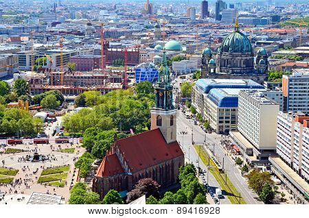 Aerial view of Berlin.