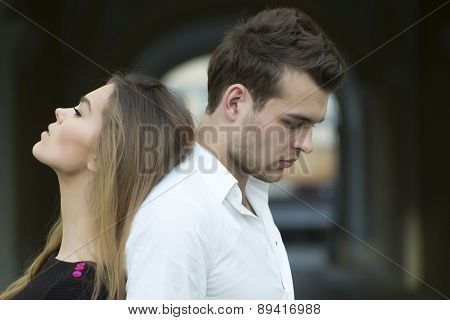 Serious Sensual Couple