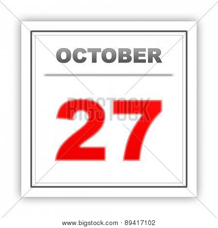 October 27. Day on the calendar. 3d