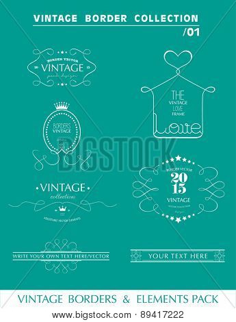 decorative borders and elements vector