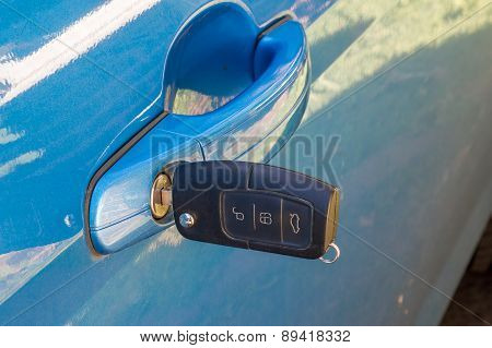 Car Key In Door Lock