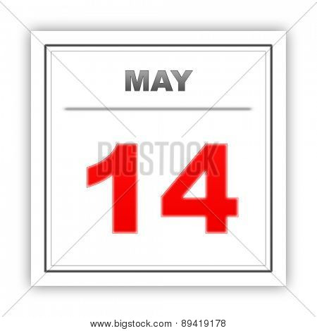 May 14. Day on the calendar. 3d