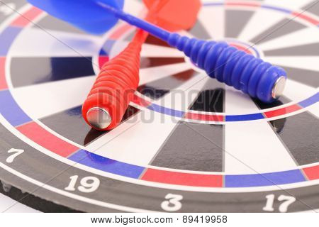 Darts Isolated On A White Background