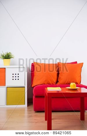 Color Teenager Bedroom Interior