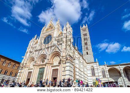 Santa Maria Assunta Cathedral In Siena, Italy