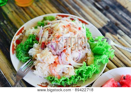Thai Spicy Salad And Sea Food