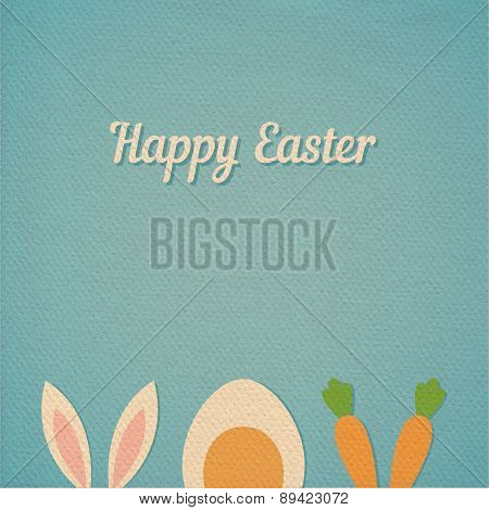 Vector Happy Easter Card Background