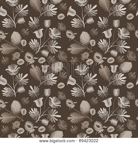 Seamless Pattern From Abstract Flowers.1