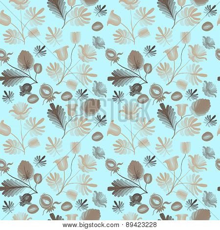 Seamless Pattern From Abstract Flowers.2