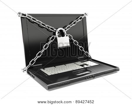 Security protection of files, or confidential files, internet security concept.