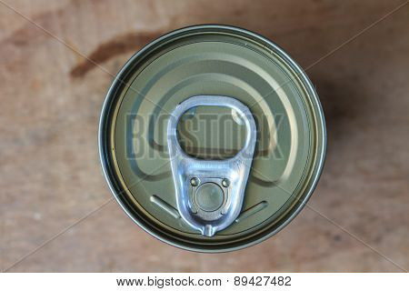 pull ring on a beverage can