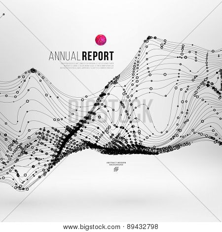 Abstract Background with Dots Array and Lines. Connection Structure. Geometric Modern Technology Concept. Digital Data Visualization. Abstract Infographic Concept