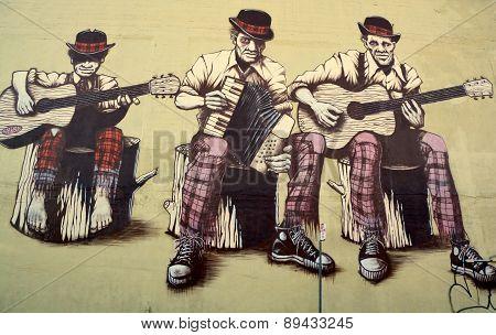 Jazz band mural