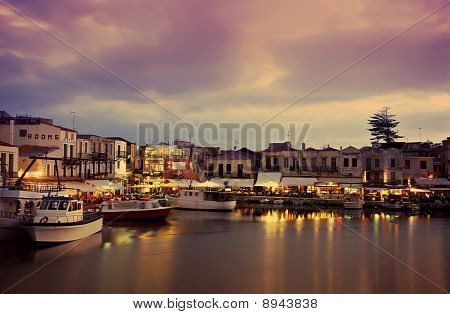 Nightfall On Rethymnon
