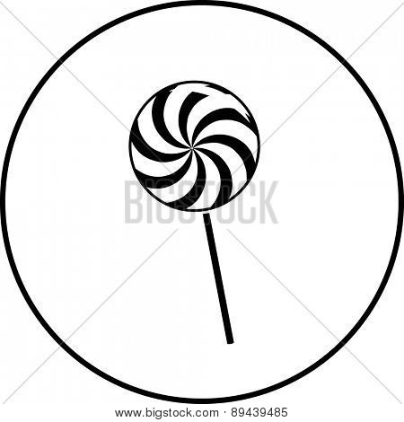 big lollipop symbol