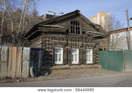 Old wooden residential house