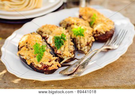Stuffed Eggplant Halves