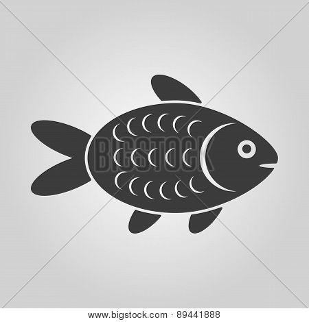 The Fish Icon. Fish Symbol. Flat