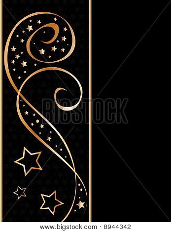 Black and golden vector background