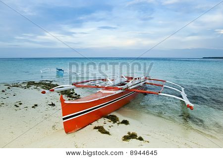 Banka Traditional Outrigger Fishing Boat