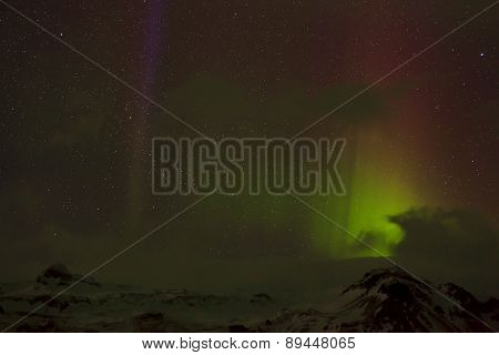 Different Colors Of Northern Lights In Iceland
