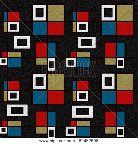 Abstract Squares Seamless Pattern
