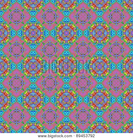 Seamless Abstract Colorful Texture Or Background With Circlular Pattern