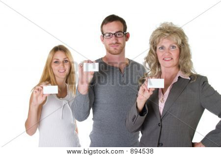 Business Team With Business Cards 1