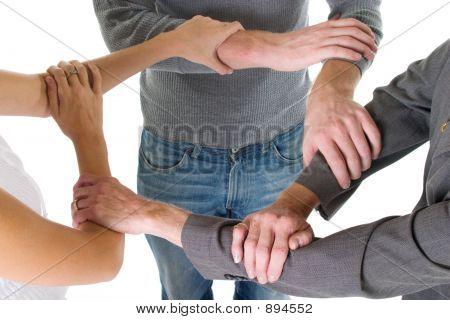 Three Arms Interlocked