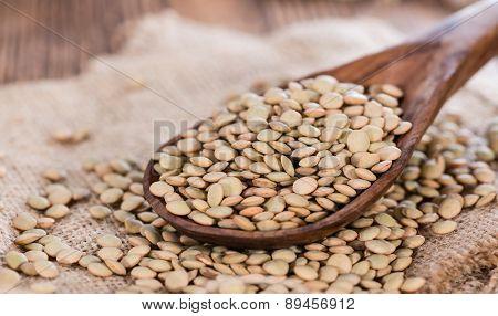Portion Of Brown Lentils