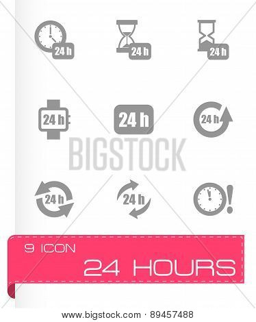 Vector 24 hours icon set