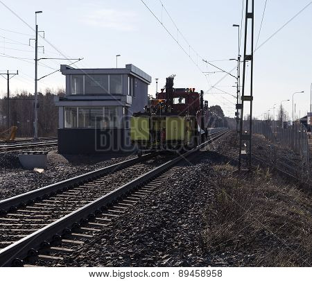 Vehicle on the railroad