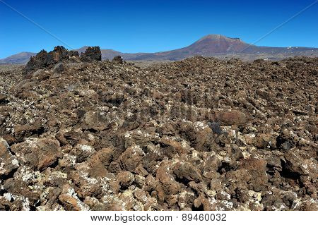 Volcanic Landscape At Lanzarote Island, Canary Islands, Spain