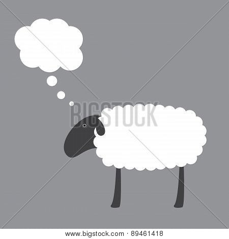 Sheep With Dream Bubble