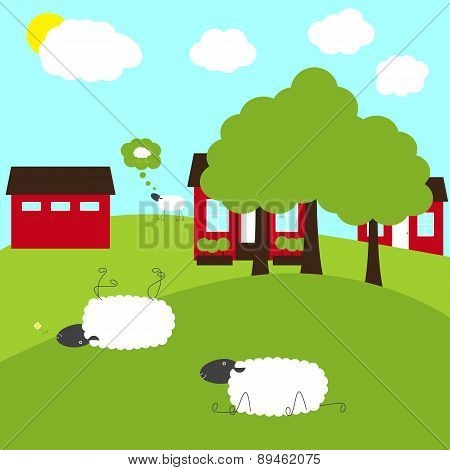Sheep On Fancy Farm