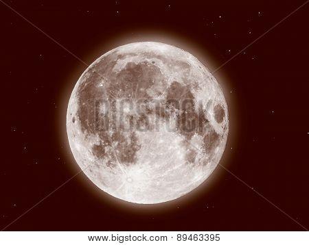 Retro Look Moon And Stars