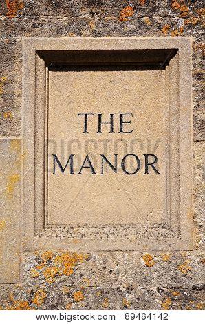 Stone Manor Sign.