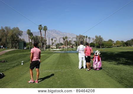 dewi claire Shreefel at the ANA inspiration golf tournament 2015