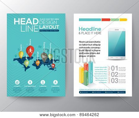 Social Network Concept Brochure Flyer Design Layout Template In A4 Size