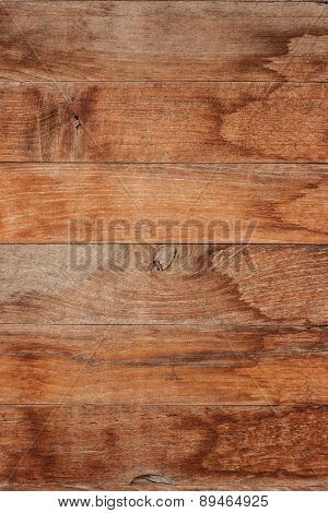 Wood Plank With Water Stain.