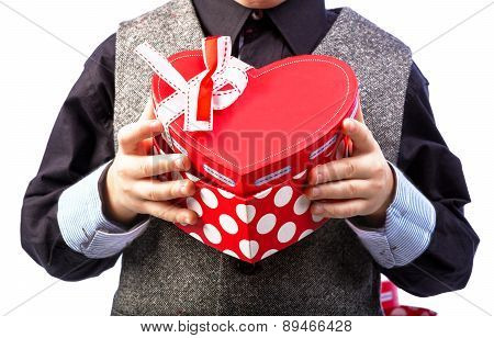 Gift Box In Man's Hands